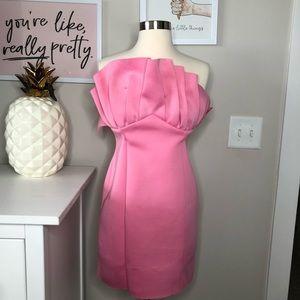 ASOS Pink Cocktail Strapless Dress Size 8